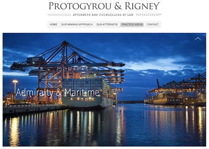 Protogyrou & Rigney Attorneys at Law website