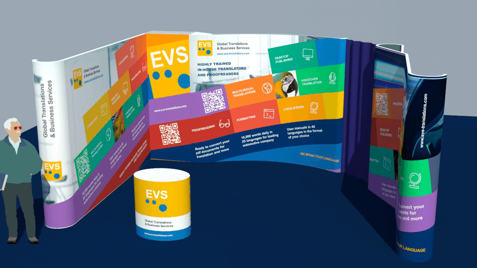 EVS Translations Trade Show Booth